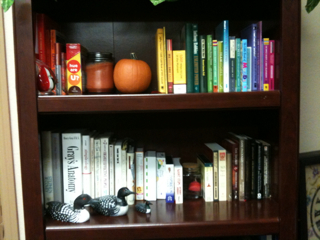 Bookshelves by color