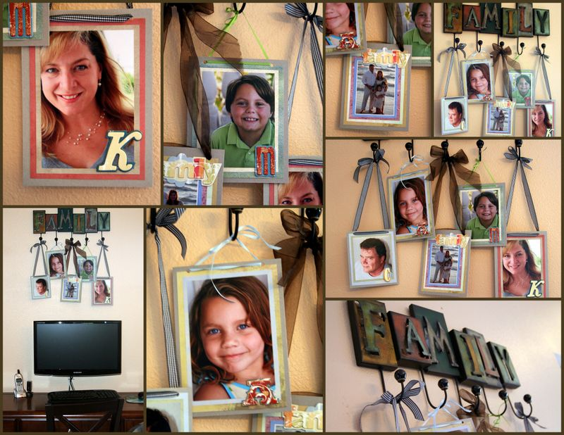 Family pictures wall hanging