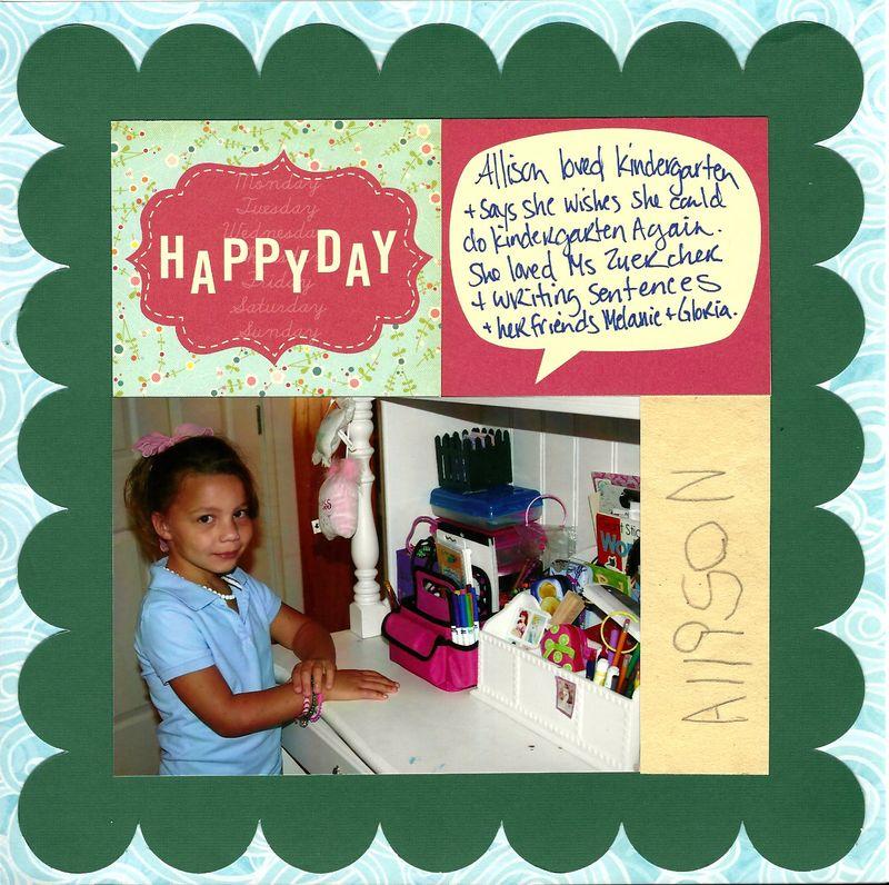 Happy kindergartener