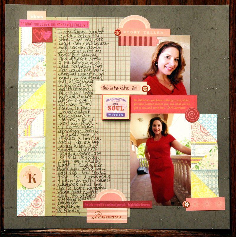 Improv Scrapbook Page