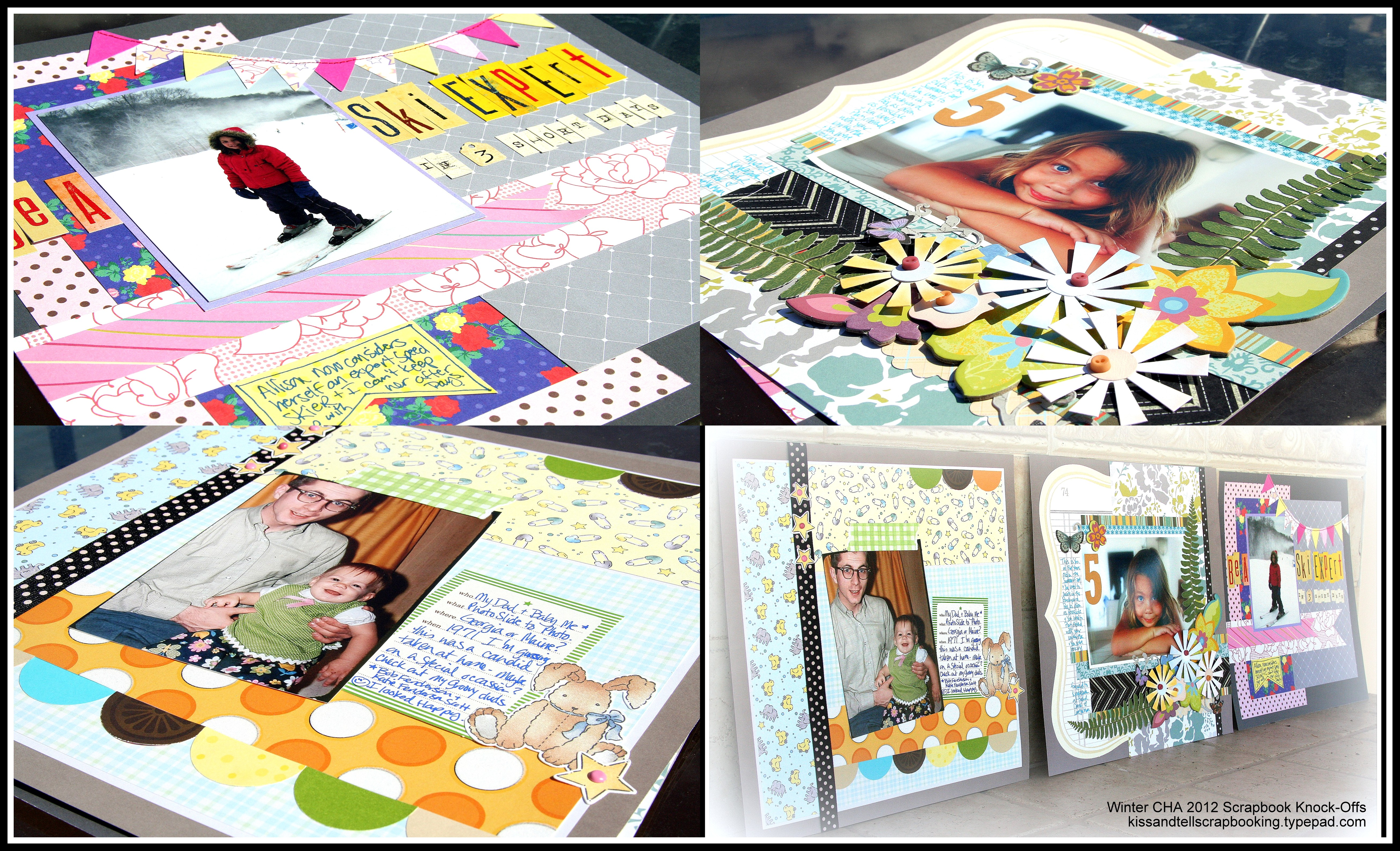 Scrapbook ideas without photos - I Ve Been Watching The Winter 2012 Cha Trends And Sneak Peeks And Scrapbook Layouts On Pinterest And Through Nancy Nally S Site With A Most Awesome Chart Of