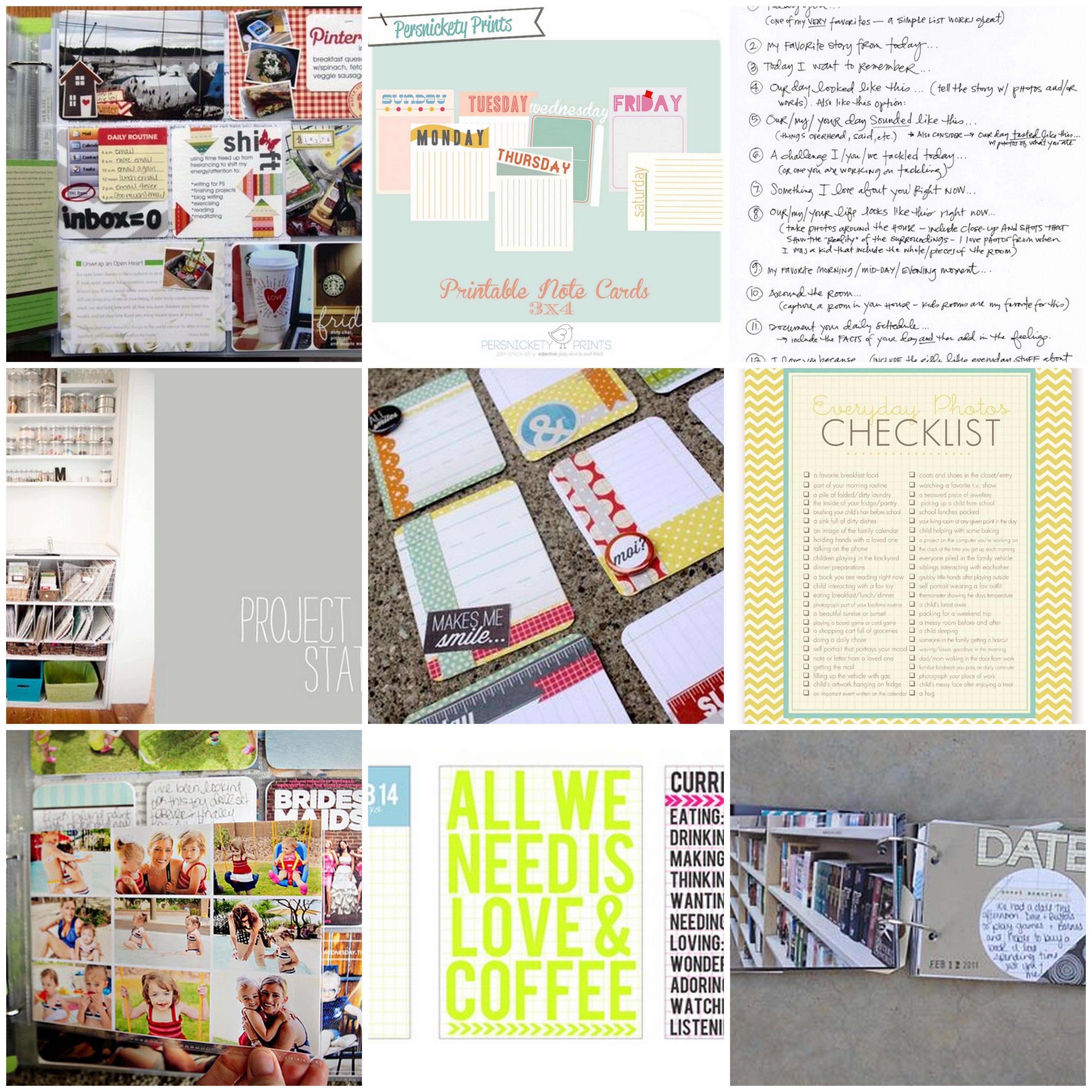 Scrapbook ideas words - Projectlifeideas