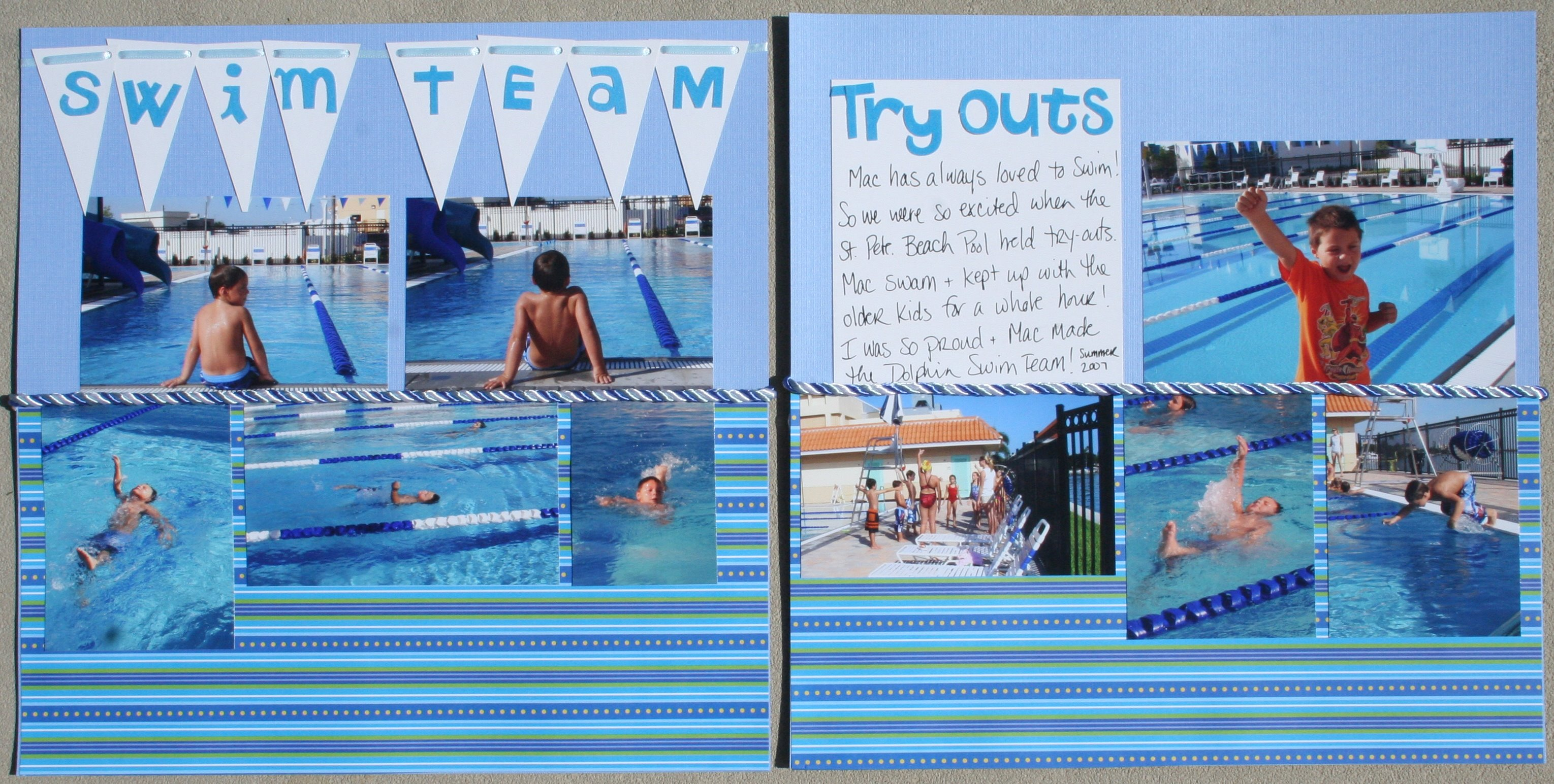 How to scrapbook on mac - Swim Team 1