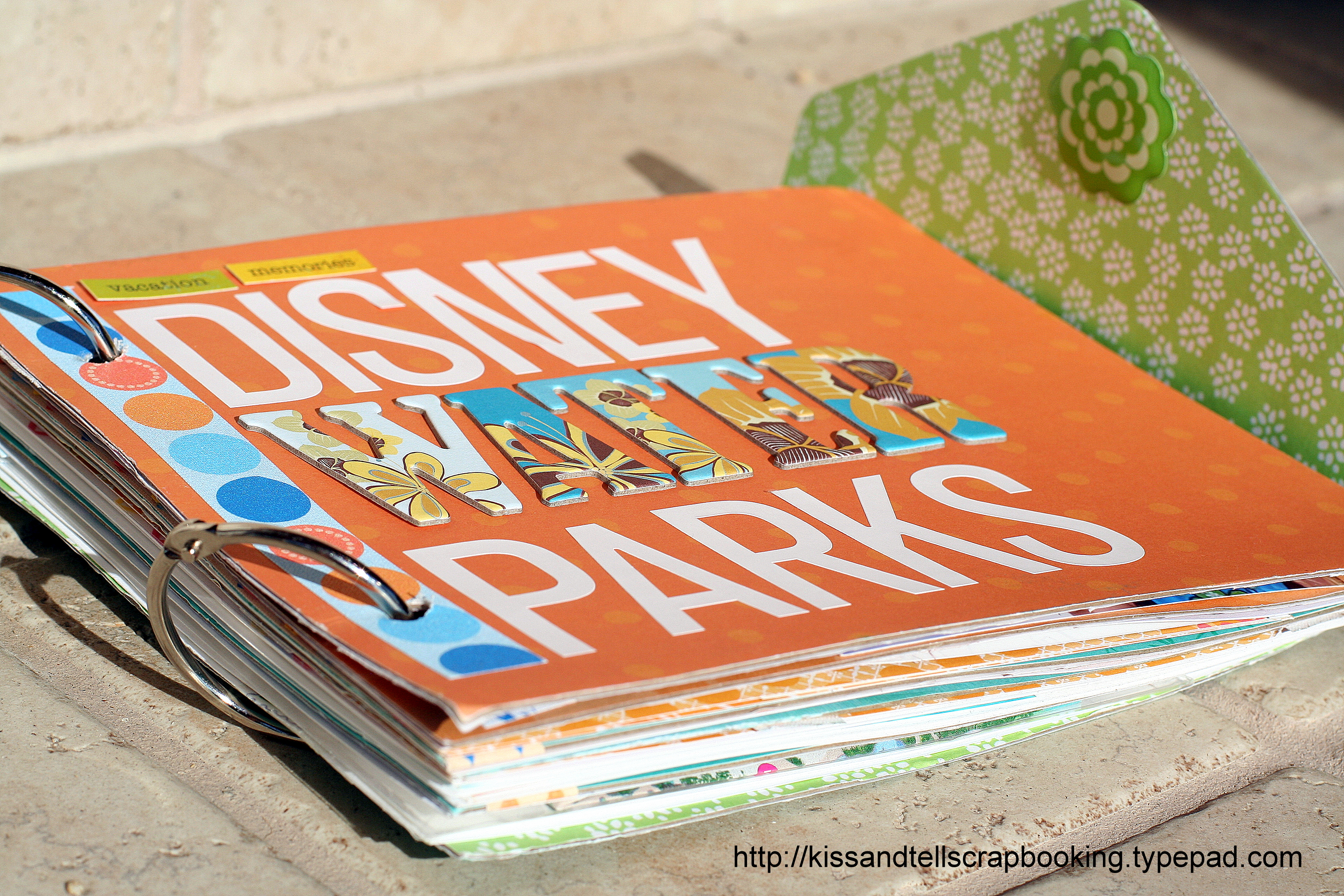 How to scrapbook disney - Waterparks