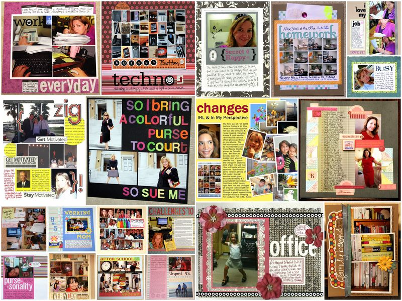 Work scrapbooking